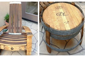 Recycled Winery Furniture