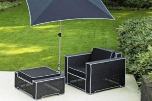Subtle Black on White Outdoor Furniture