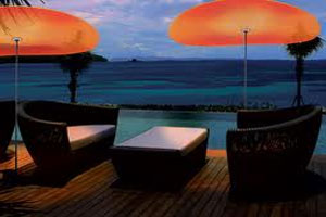 Dark and Light Outdoor Seating