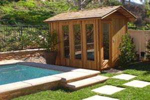 Sauna by the Pool