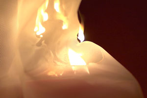 Burning Curtain Example