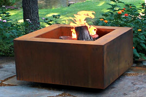 Wood-Burning Fire Pit Table