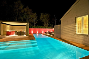 Designer Pool Bed with Room