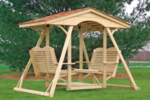 Wooden Glider Swing