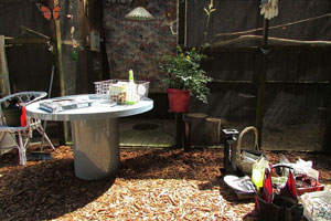 Outdoor Crafting Room