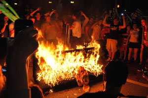 West Virginia Couch Burning